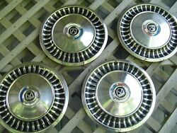 1963 63 Ford Fairlane Hubcaps Wheel Covers Center Caps Antique Vintage 13 In.
