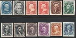 #63P4-78P4 PLATE PROOFS ON CARD 1861 2ND DESIGN == XF SET == CV $1235+ WL5597