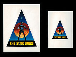 Star Wars 1976 Pre Production Early Logo Decal Stickers Ralph Mcquarrie Rare