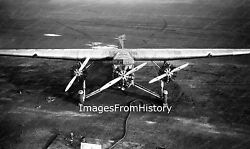 8x10 Print Ford Trimotor Refueling At Boston Airport 1929 838