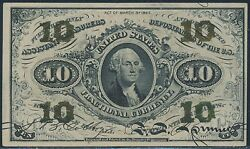 Fr1255 10andcent 3rd Issue Fractional Currency Green Reverse Very Choice Cu Br3266