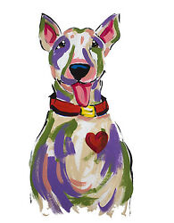 Pit Bull Terrier Dog Painting
