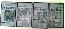 Detroit Pistons 1989 -1990 Back-to-back Champions Newspaper Printing Plates 4