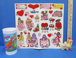 Ronald McDonald Happy Meal Toy Bedtime Glow in The Dark Figurine Valentines Cup