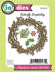 Christmas Wreath American Made Steel Dies By Impression Obsession Die023-x New