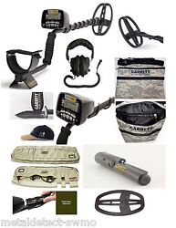 Garrett At Gold Metal Detector, Propointer, Camo Carry Bag, Edge, Hat, Pouch