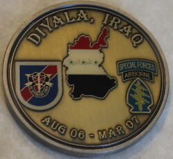 20th Special Forces Group Airborne 3rd Bn B Co Fob Diyala Army Challenge Coin