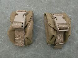 Usmc Molle Ii Hand Grenade Pouches, Coyote Brown Lot Of Two 2 New