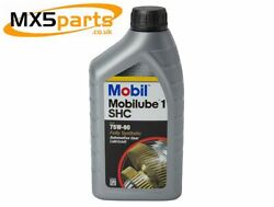 Mobil 75w-90 Shc Fully Synthetic 75w90 Diff And Gearbox Oil 1 Ltr Bottle All Mx5