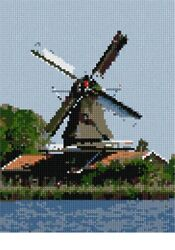 Windmill At The Water Needlepoint Kit Or Canvas Nautical/ocean