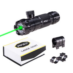 Pinty Tactical Green Dot Laser Sight Rifle Dot Scope W/ Rail Andbatteries And Switch