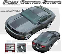 Pony Wide Middle Center Hood-rear Bumper Stripe Decal Graphic 2010-2012 Mustang