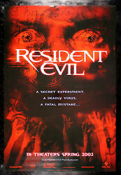 Resident Evil Cinemasterpieces Original Ds Zombie Blood Red Movie Poster 2002