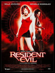Resident Evil Cinemasterpieces French Zombie Milla Jovovich Movie Poster 2002