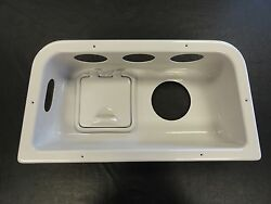 Box Battery Panel W/ Speaker And Cup Cut Out 12 1/4 X 24 5/8 Cl62667 Marine Boat