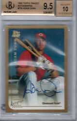 1999 Topps Traded Auto Adam Dunn Rc Bgs 9.5 W/ 10 A's