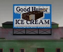 Good Humor Ice Cream Animated Sign 44-1502 N Or Ho Scale Miller Engineering