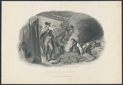 George Washington At Valley Forge Scene Engraved Essay Br6406