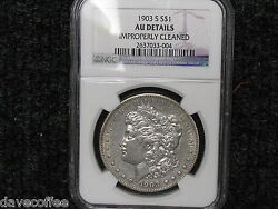 1903 S Morgan-a Harder Date-ngc Certified Au Details - With Free Shipping