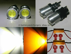 3157 3457 3057 4157 High Power LED Switchback Turn Signal Lights with Resistors