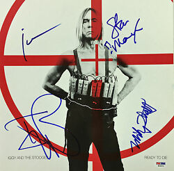 Iggy Pop And The Stooges Signed Ready To Die Album 4 Sigs Psa/dna Coa W04873