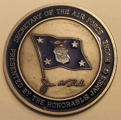 James G Roche Secretary Of The Air Force Challenge Coin