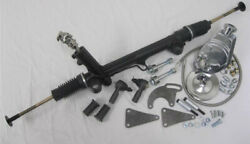 Mustang Ii 2 Power Rack And Pinion Steering Kit Pump Hoses U-joint Tie Rod Bolts +