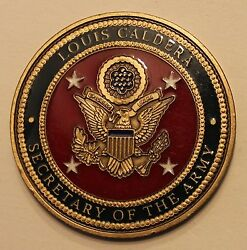 Secretary Of The Army Louis Caldera Army Challenge Coin