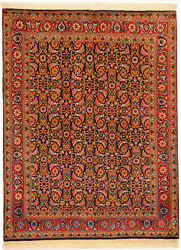 Red 5' x 7' Tabriz Rug Hand Knotted Persian Rug