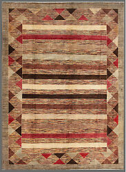 Red 9and039 X 12and039 Gabbeh Rug Hand Knotted Oriental Rug