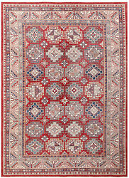 Red 9' X 12' Kazak Rug Hand Knotted Persian Rug