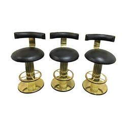 Designs For Leisure 3 Reeded Column Swivel Bar Stools  designs for leisure