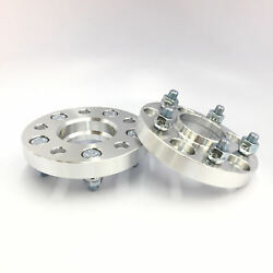 2pc 1 Thick Wheel Spacers With Lip   5x115 Hubcentric 70.3 Hub   12x1.5 Stud