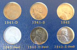 Lot 1941 - 1974 S Us Lincoln Copper Penny Cent Coin Book Collection