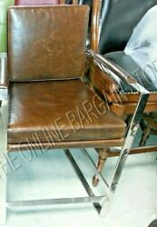 Frontgate Seville Counter Height Barstool Chair Kitchen Stool Roughrider Leather
