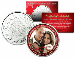 Royal Wedding William And Kate Royal Canadian Mint Medallion Coin
