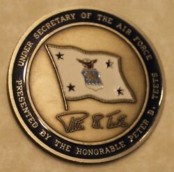 Under Secretary Of The Air Force Peter B Teets Challenge Coin