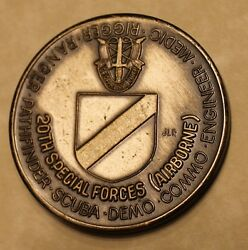 20th Special Forces Group Airborne Green Berets Serial 409 Army Challenge Coin
