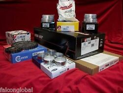 Marine Chevy Gm454 7.4genvi 6 Engine Kit Timing Gaskets Bearings Pistons Carb.