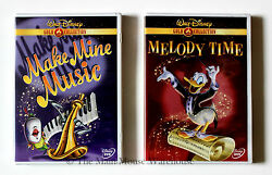 Disney's Make Mine Music And Melody Time 2 Dvd Movie Set 16 Famous Cartoon Shorts
