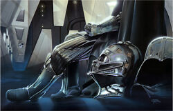 Isolation And Confinement Sith Lord Darth Vader Star Wars Art Giclandeacutee On Canvas