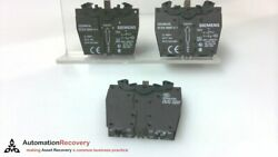 Siemens 3sb3400-0a - Pack Of 3, Contact Block, 2 Contact Elements, New 189400
