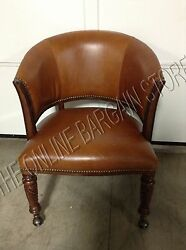 Frontgate Mandalay Chess Game Table Office Executive Rolling Leather Chair