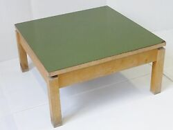 Table Basse Carree Formica Kaki 1950 Vintage Rockabilly Vtg 50and039s Coffee Table 1