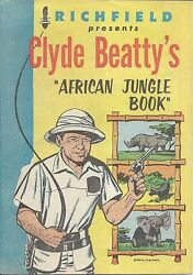Richfield Presents Clyde Beattyand039s African Jungle Book Giveaway Promo Comic 1956
