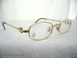 CARTIER GOLD OCTAGON EYEGLASSES GLASSES - AUTHENTIC NEW T8100427