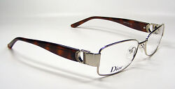 Christian Dior Eyeglasses CD 3741 Color EWO BrownStainless Steel Frame RX Stone
