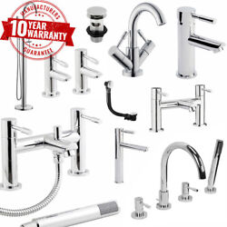 Modern Chrome Bathroom Taps Including Basin, Bath Fillers And Bath Shower Mixers