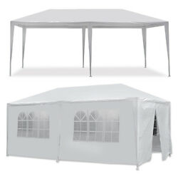 10 X 20and039 Outdoor Gazebo Party Tent With 6 Side Walls Wedding Canopy Cater Events
