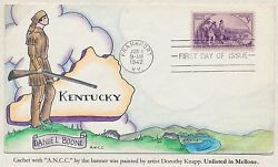 #904 ON WEIGAND FDC HANDPAINTED CACHET